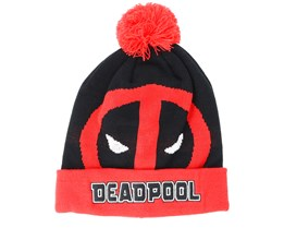 Deadpool Roll Up Black Beanie - Bioworld