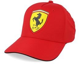 Scudetto Carbon Cap Red Adjustable - Ferrari