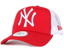 NY Yankees Scarley/White Clean Trucker - New Era
