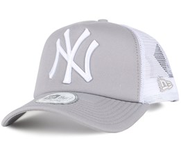 NY Yankees Grey/White Clean Trucker - New Era