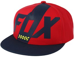Youth Scalene Dark Red Snapback - Fox