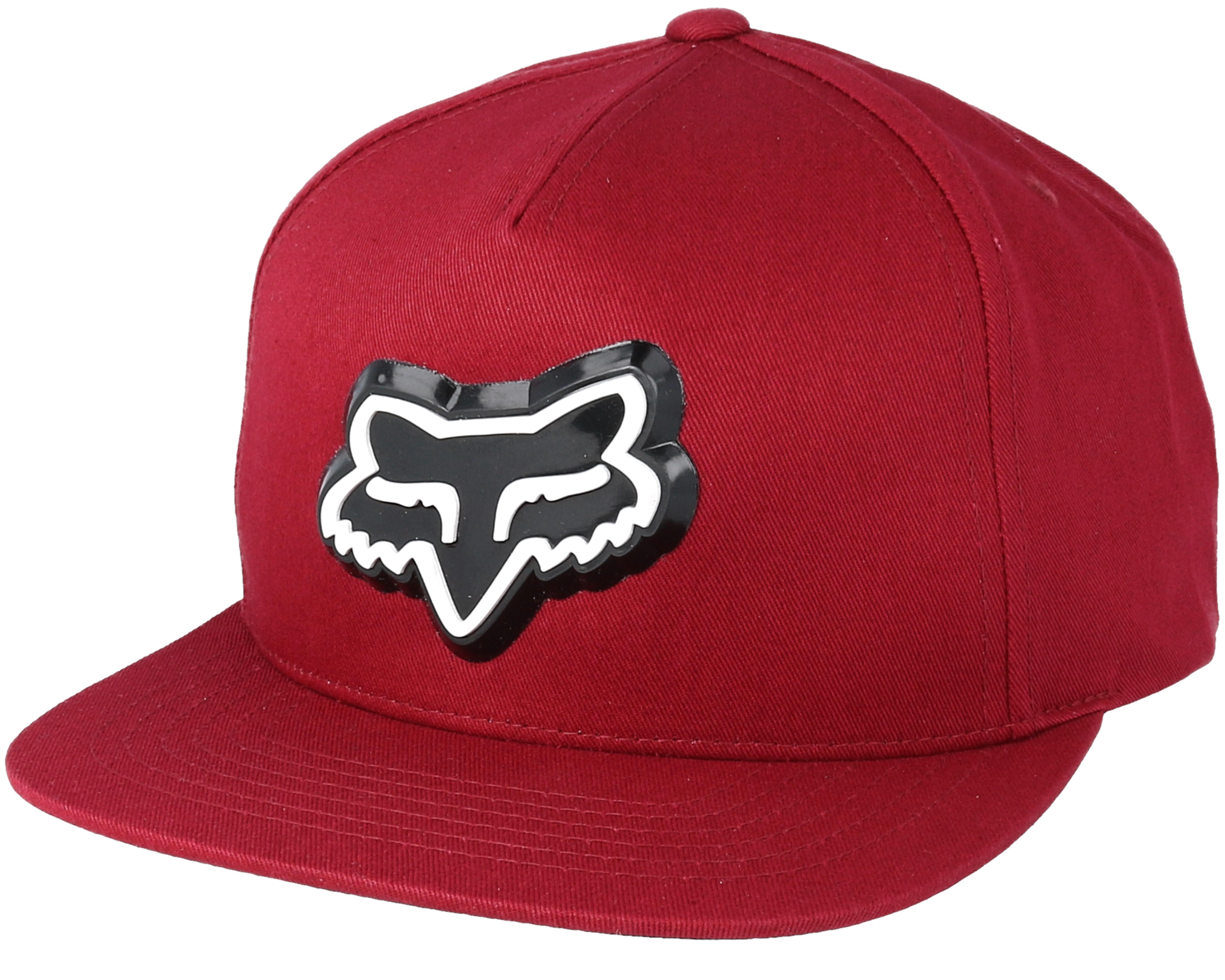 88000aec8f35 Ingratiate Red Snapback - Fox caps   Hatstore.co.uk