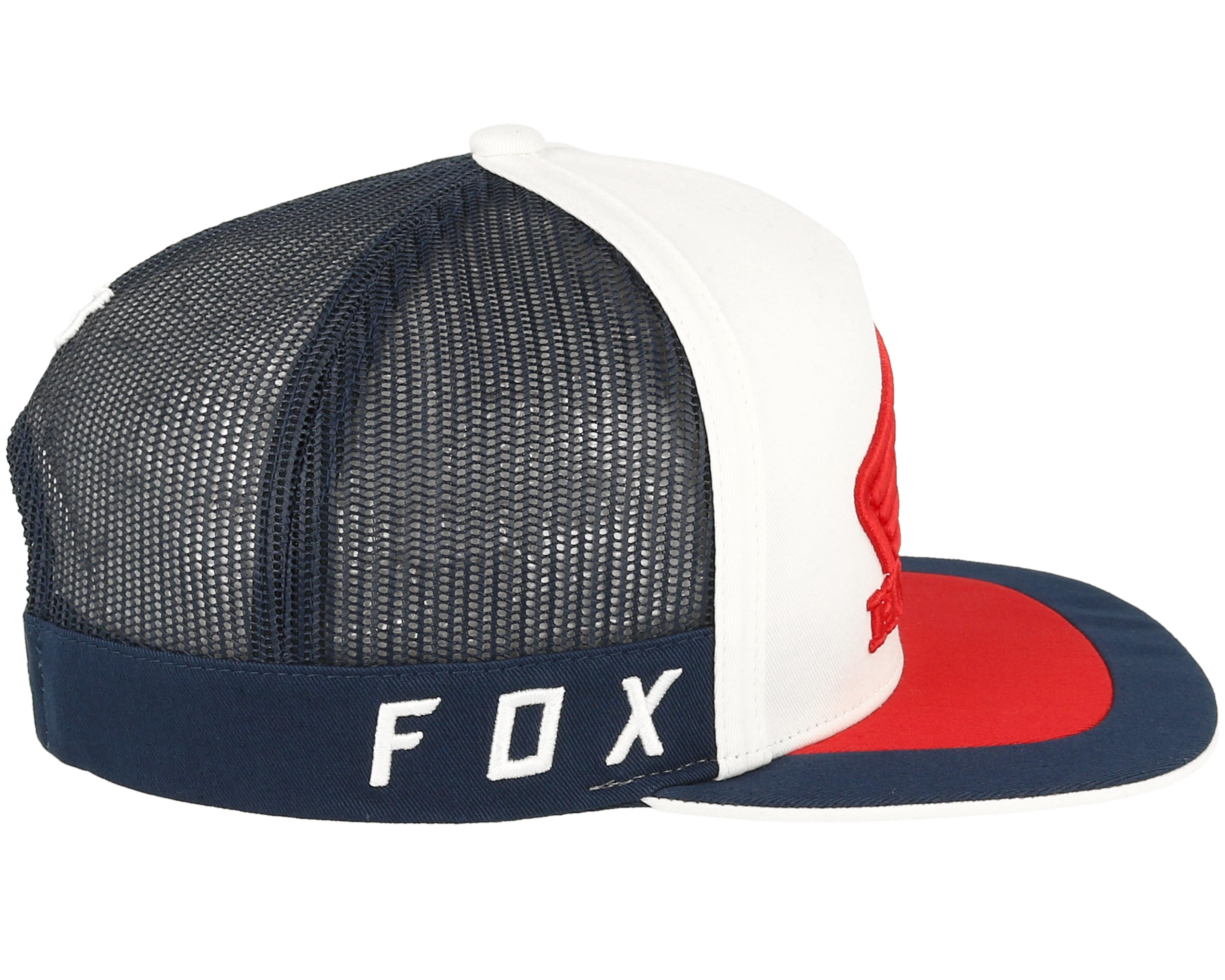 Honda Navy White Trucker Fox Keps Hatstore Se