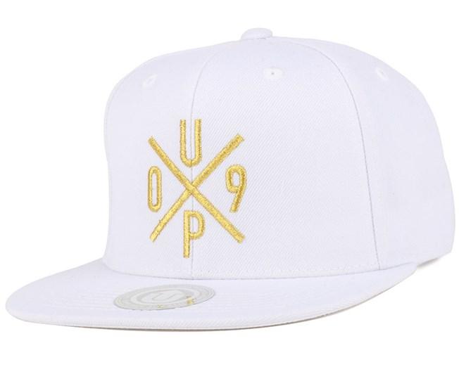 UP09 White/Gold Snapback - Upfront