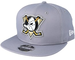 Anaheim Ducks Tean Logo Weld Grey Snapback - New Era
