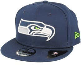 Seattle Seahawks Team Classic Navy Snapback - New Era