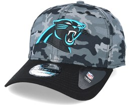 Carolina Panthers Team Stretch Grey Camo 39Thirty - New Era