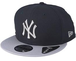 New York Yankees Diamond Contrast Navy Snapback - New Era