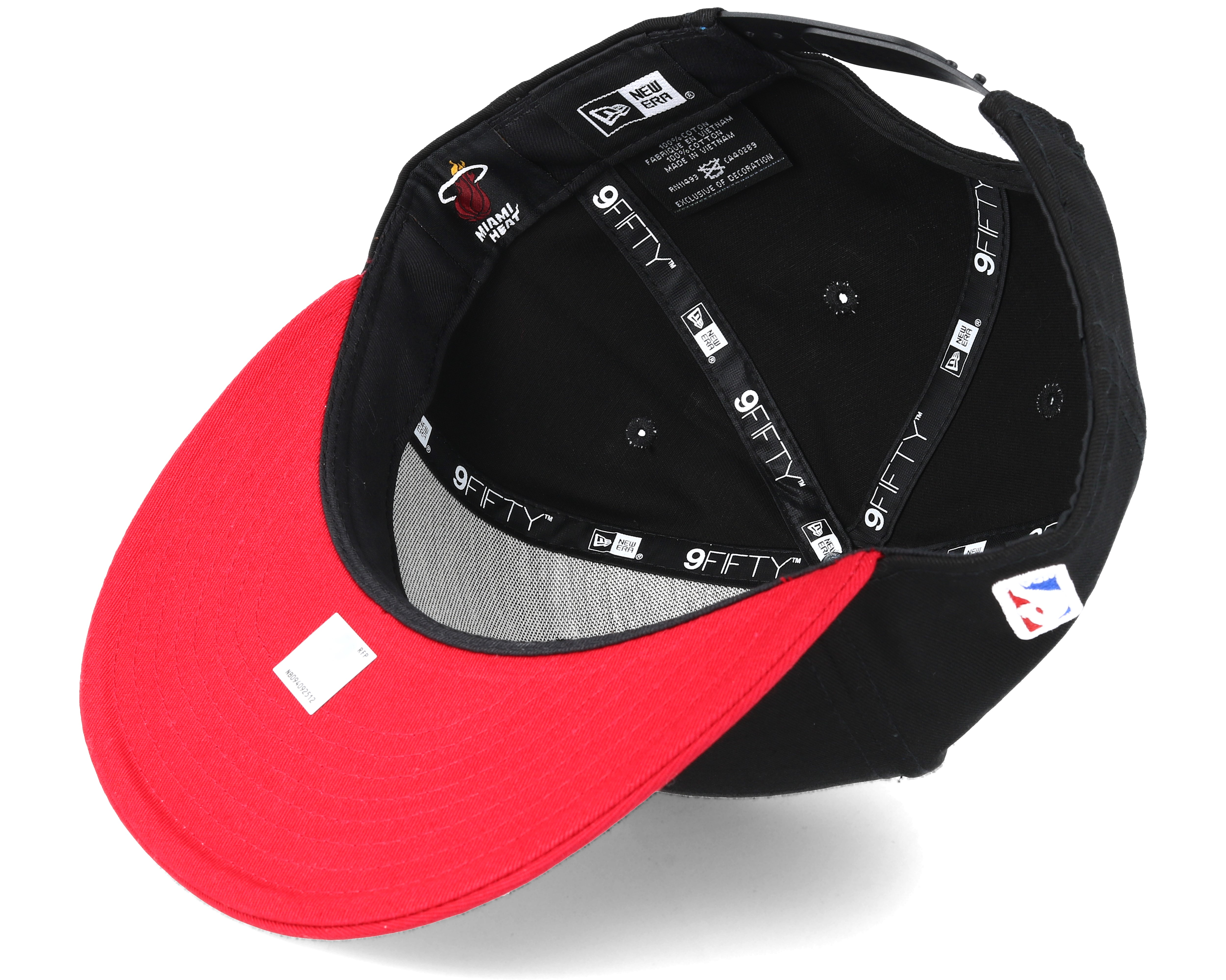 Miami Heat Base 9Fifty Black Snapback - New Era caps  a727cd348ee