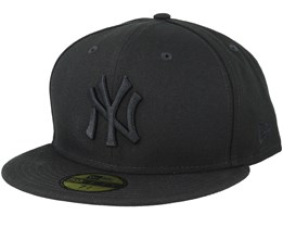 New York Yankees MLB Basics Black/Black 59Fifty Fitted - New Era