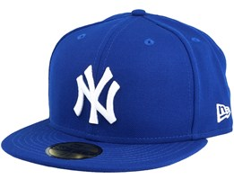 New York Yankees MLB Basic 59Fifty Royal/White 59Fifty Fitted - New Era