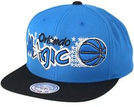 Orlando Magic XL Logo 2 Tone Navy/Blue Snapback - Mitchell & Ness