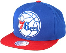 Philadelphia 76ers XL Logo 2 Tone Red/Blue 2 Snapback - Mitchell & Ness