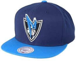 Dallas Mavericks XL Logo 2 Tone Blue/Dark Navy Snapback - Mitchell & Ness