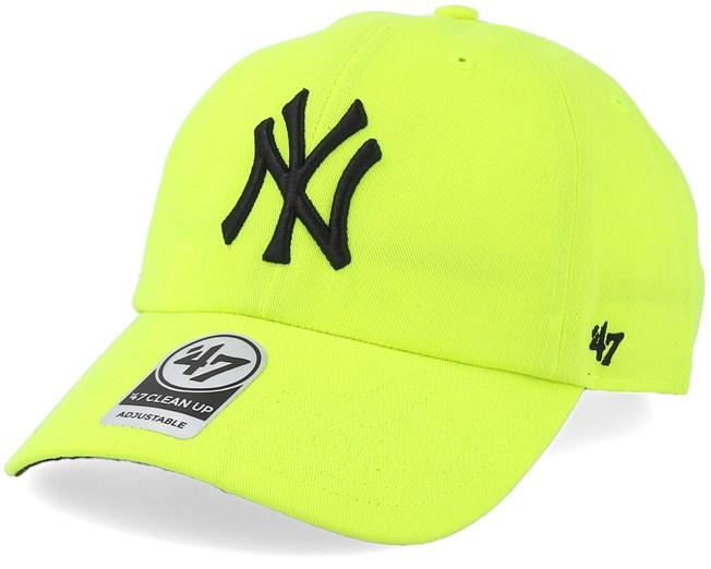 New York Yankees Neon Clean Up Yellow Black Adjustable - 47 Brand lippis -  Hatstore.fi 4e5e6566c9