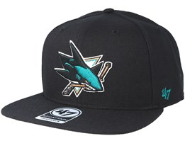 San Jose Sharks Sure Shot Black Snapback - 47 Brand