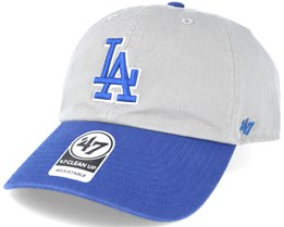 Los Angeles Dodgers 2 Tone Clean Up Grey/blue Adjustable - 47 Brand