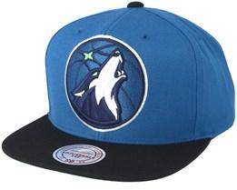 Minnesota Timberwolves XL Logo 2 Tone Blue Snapback - Mitchell & Ness