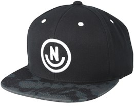 Daily Smile Pattern Black Wash Snapback - Neff