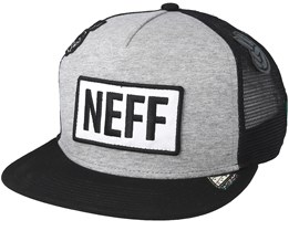 Atoms Trucker Heather Grey/Black Snapback - Neff
