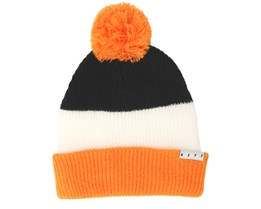 Snappy Black/White/Orange Beanie - Neff