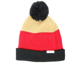 Snappy Tan/Red/Black Beanie - Neff