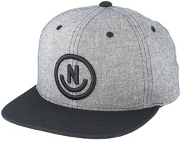 Daily Smile Fabric Black/Black Snapback - Neff