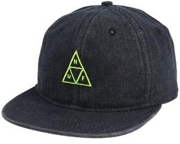Formless Denim Triple Triangle Black Snapback - Huf
