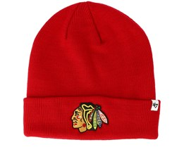 Chicago Blackhawks Raised Knit Red Cuff - 47 Brand
