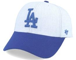 Los Angeles Dodgers Munson Mvp Grey/royal Blue Adjustable - 47 Brand