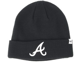 Atlanta Braves Raised Black Cuff - 47 Brand