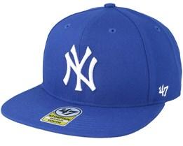 Kids New York Yankees Youth No Shot 47 Captain Royal Snapback - 47 Brand