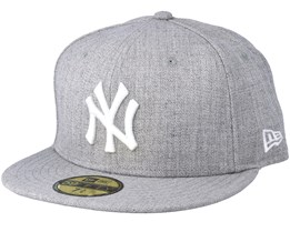 New York Yankees MLB Basic Heather Grey 59Fifty Fitted - New Era