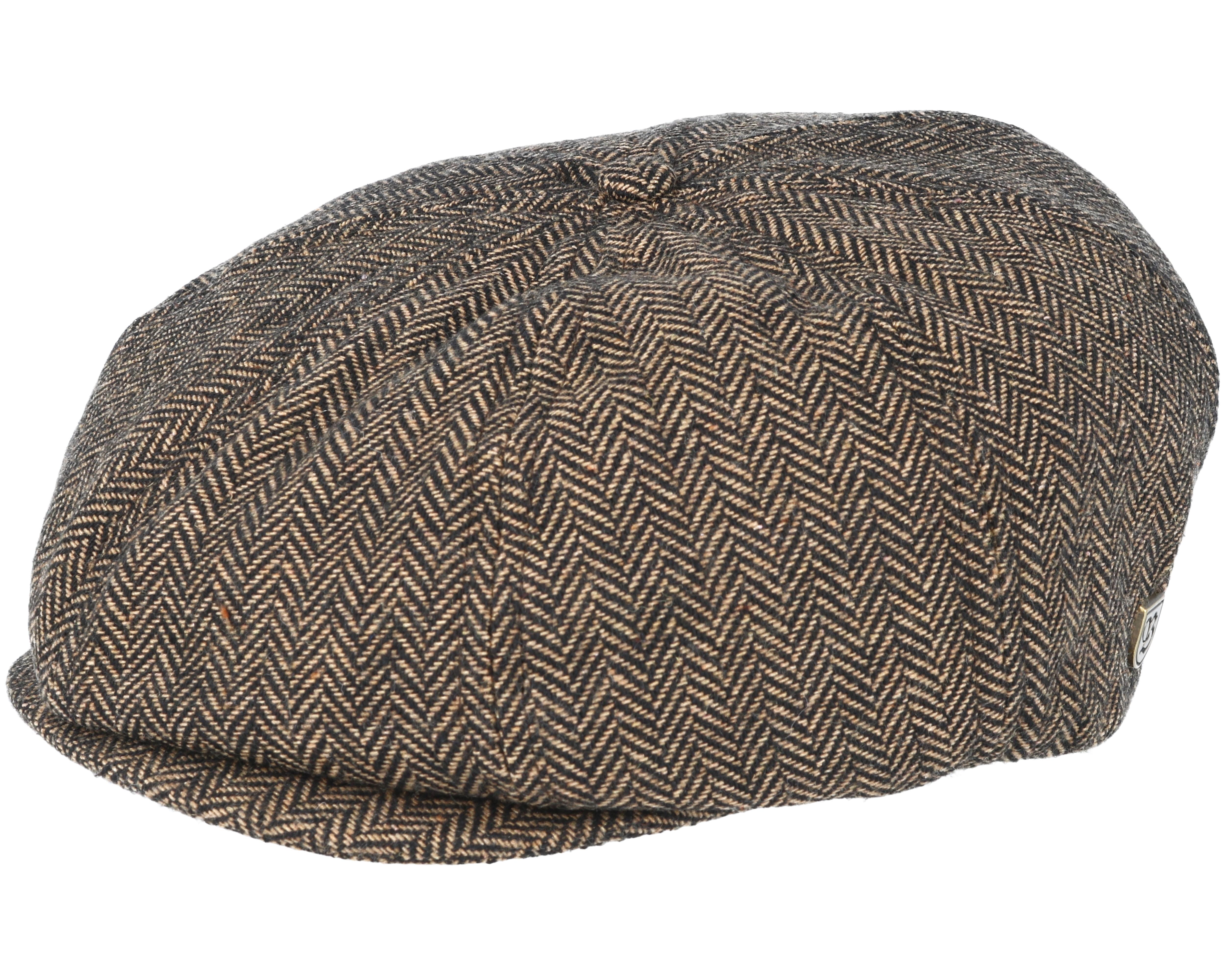 Brood Brown Khaki Flat Cap - Brixton caps  8f428aa2efa