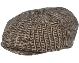 Brood Brown/Khaki Flat Cap - Brixton