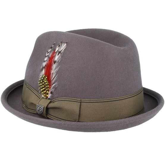 efef34991766cf ... germany gain grey gold fedora brixton hats hatstore 250fb d1a62