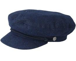 Fiddler Navy/Navy Flat Cap - Brixton
