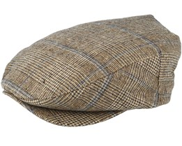 Barrel Brown Plaid Flat Cap - Brixton