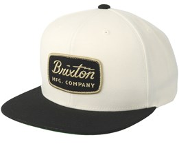 Jolt Off White/Black Snapback - Brixton