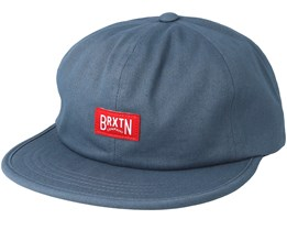 Langley Grey Blue Strapback - Brixton