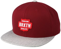 Garth Burbundy/Light Heather Grey Snapback - Brixton