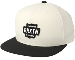 Garth Off White/Black Snapback - Brixton