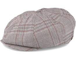 Brood Taupe Plaid Snap Cap - Brixton
