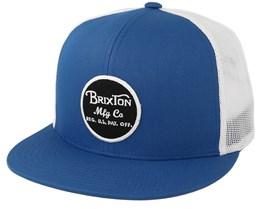 Wheeler Mesh Royal/White Trucker - Brixton
