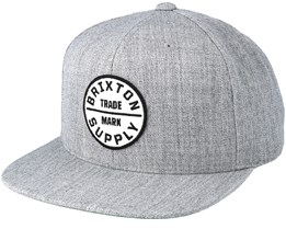 Oath III Heather Grey Snapback - Brixton