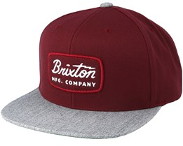 Jolt Heather Grey/Maroon Snapback - Brixton