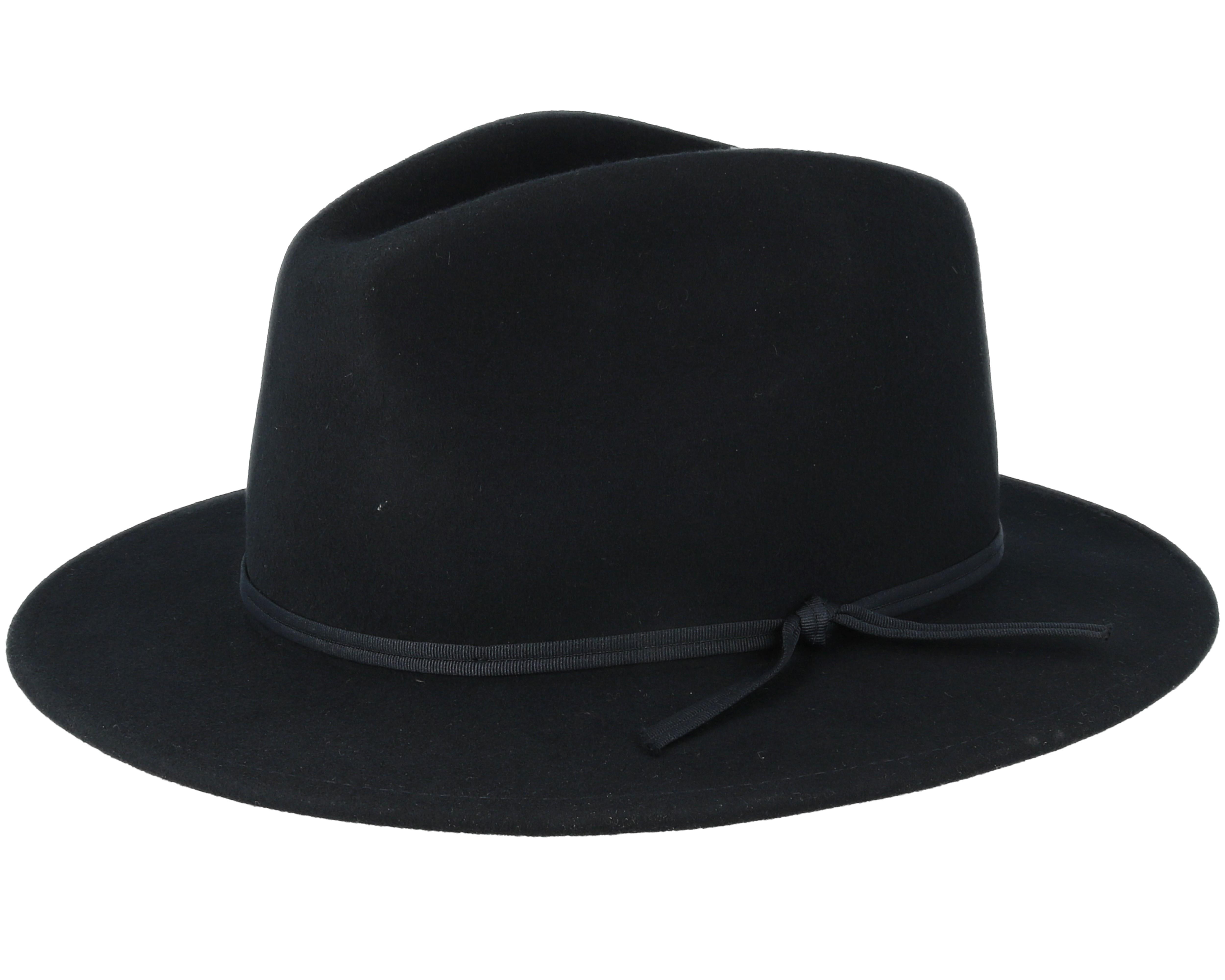 Coleman Black Fedora - Brixton hats  7b0010d3734