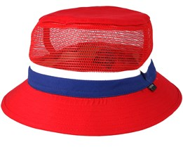 Kids Lil Hardy Red/Navy Bucket - Brixton