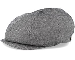 Brood Black Denim Flat Cap - Brixton