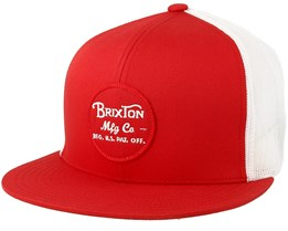 Wheeler Mesh Red/White Trucker - Brixton